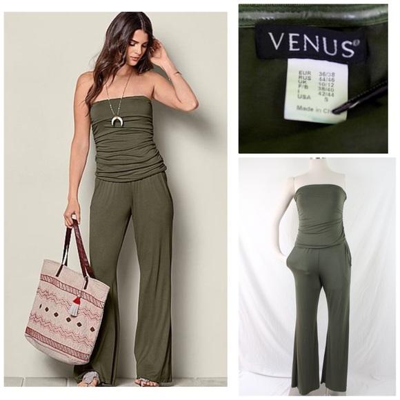 c2622e5a4ddd VENUS Women s Strapless Olive Jumpsuit Size  Small.  M 5b2be7db03087ce900211a31